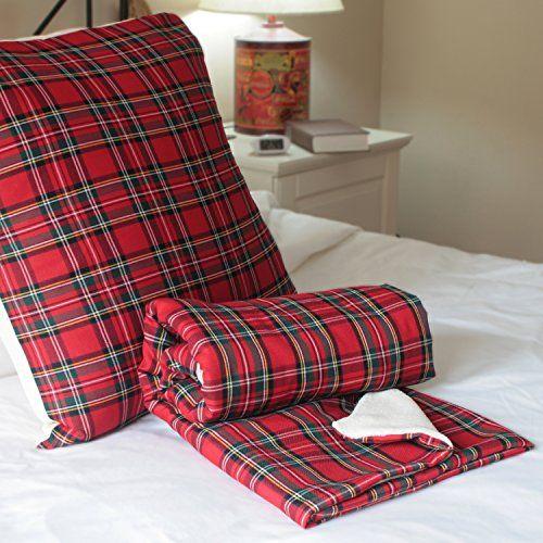 Conjunto manta y cojin Escoces - escoces rojo - juego manta cojin - ropa de cama -cubrecamas - wiki pillow - 100x150 - 40x70cm. WIKI PILLOW http://www.amazon.es/dp/B00SV8158E/ref=cm_sw_r_pi_dp_1Lz9vb0X0P4SW