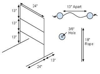 ladder golf dimensions - use wood not pvc?