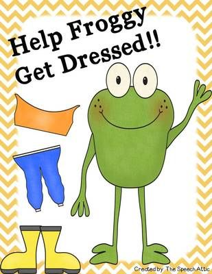 Help Froggy Get Dressed! from The Speech Attic on TeachersNotebook.com -  (11 pages)  - Who is ready for spring? I know Froggy is, but he needs help getting dressed.
