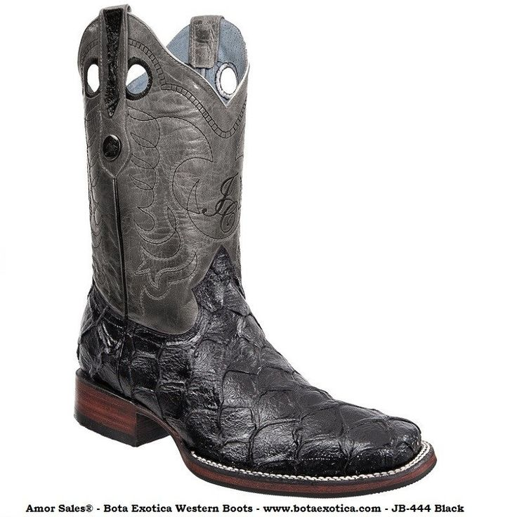 Love this Black & Gray Embossed Leather Cowboy Boot on. See more. JB-444 -  Botas Vaqueras Exoticas para Hombre