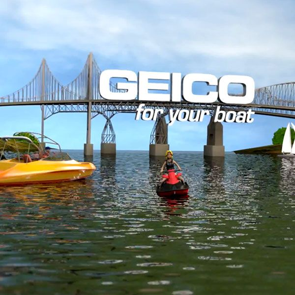 Geico Marine Insurance  : GEICO Small World Boat Insurance Commercial | Happy TV Commercials ...