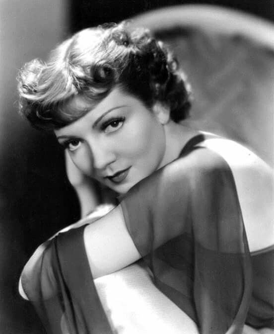 The beautiful, great actress, Claudette Colbert
