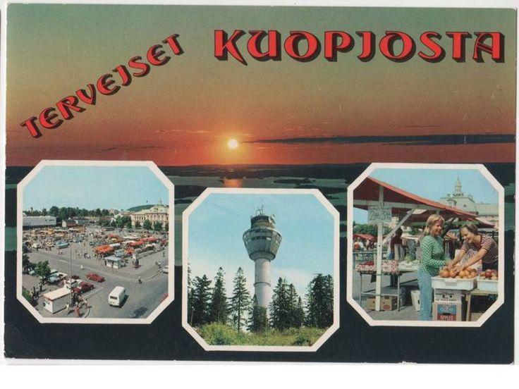 Postcard Kuopio, Finland 1970s