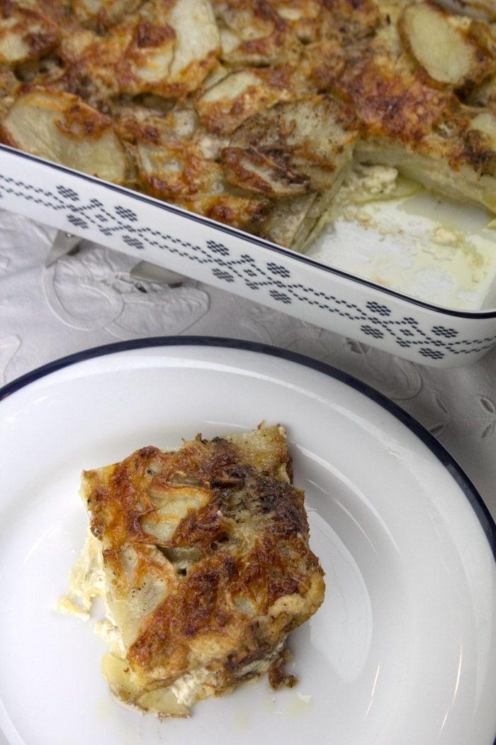 Γκρατέν Ντοφινουά πατάτες στο φούρνο με κρέμα γάλακτος