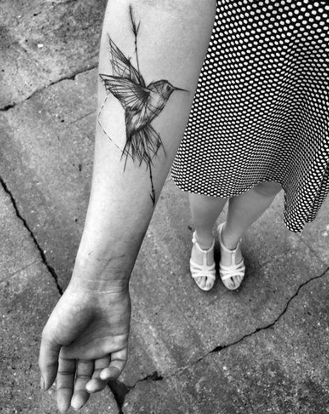 Sketch Style Hummingbird by Inez Janiak
