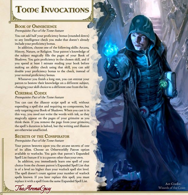 Tome Invocations 3 New Story Inspiring Options For Your Tomelock Unearthe Dungeons And Dragons Game D D Dungeons And Dragons Dungeons And Dragons Homebrew