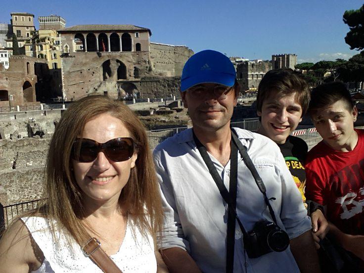 Selfie en el foro romano, Roma. Italia
