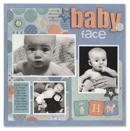 baby scrapbook page layouts | Ask Robin – Basics- Baby Face