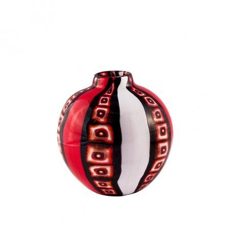 #Vase en #verre de #Murano travaillé entièrement à la main utilisant la technique ancienne de maîtres verriers de #Murano. Nos vases sont des #œuvres d'art uniques, et de légères différences de couleur sont considérés des vertus ou des caractéristiques du produit. Chaque produit est livré avec un COURRIER ASSURÉ AU 100%.
