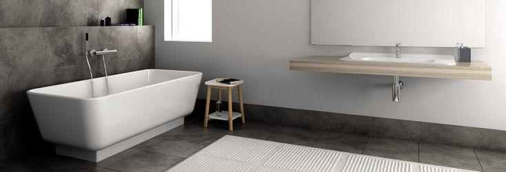 A kádat évek múlva is átteheted a fal mellé, vagy a fürdőszoba közepére. #fürdőszoba