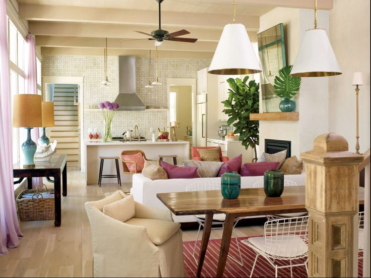 living room, dining room, kitchen open concept | traditional