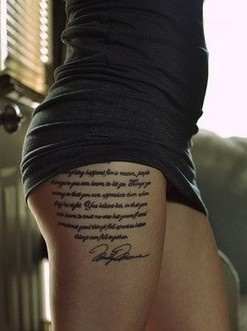 Hot quote tattoo #quote #tattoo www.loveitsomuch.com