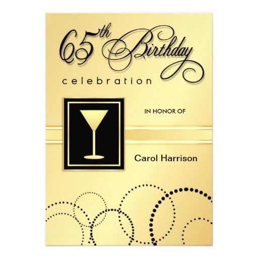 44 best 65th Birthday Invitations images on Pinterest 65 - invitations samples for birthday