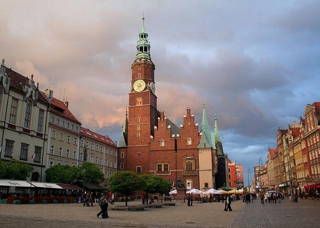 Ratusz - serce wrocławskiego Rynku.