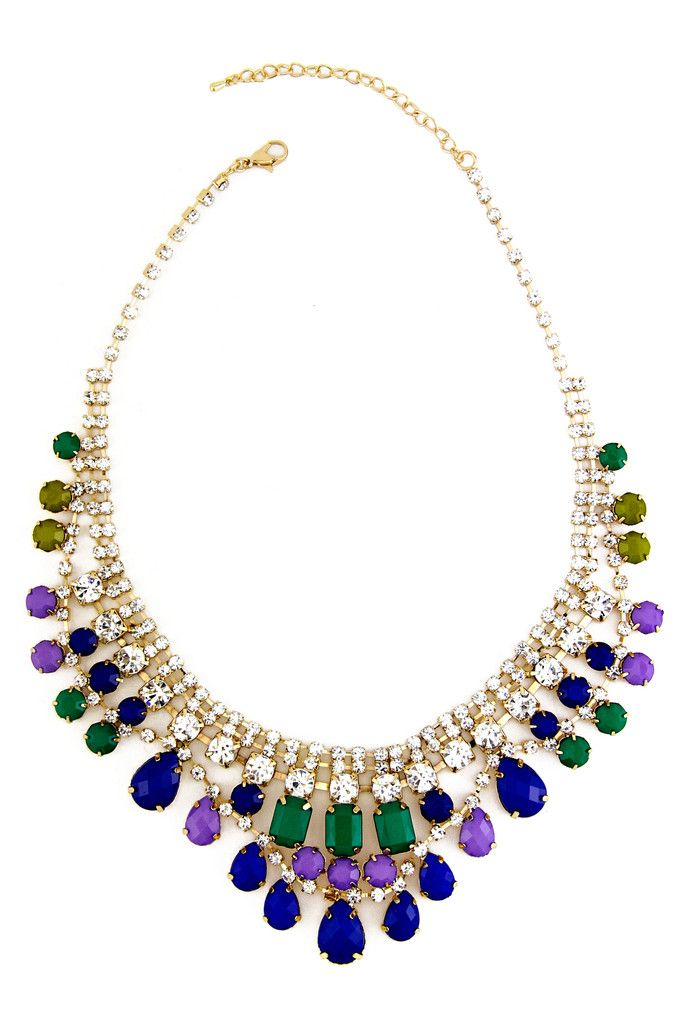 CRYSTALS & GEMS GODDESS NECKLACE