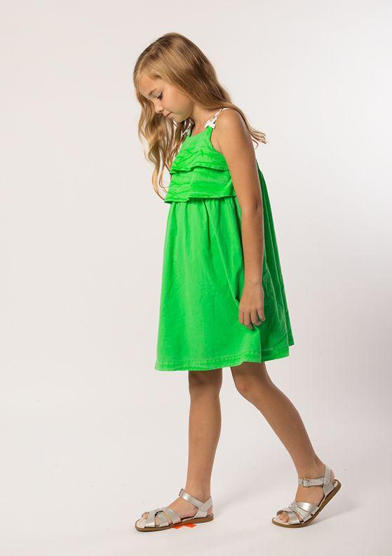 Dress - Trapeze: Neon Green