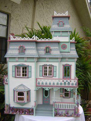 Dollhouses by Robin Carey: The Cambridge House: Miniature Dollhouses, Dolls Houses, Miniatures Dollhouses, Robin Carey, Doll Houses, Dollhouses Miniatures