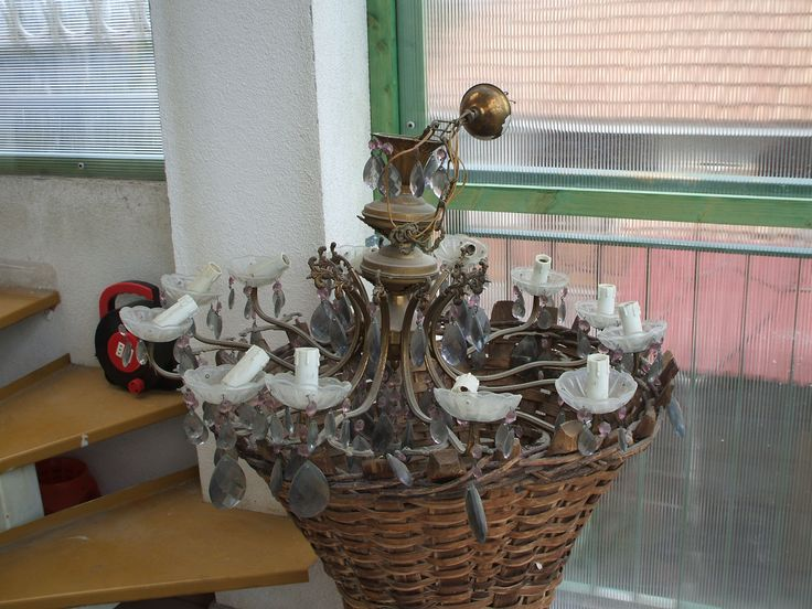 Grandma old rusty lamp