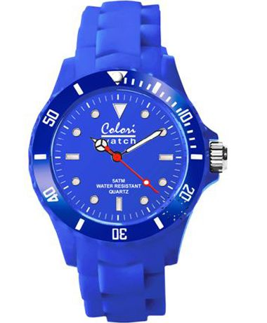 COLORI Classic Blue Silicone Strap http://www.oroloi.gr/product_info.php?products_id=34915