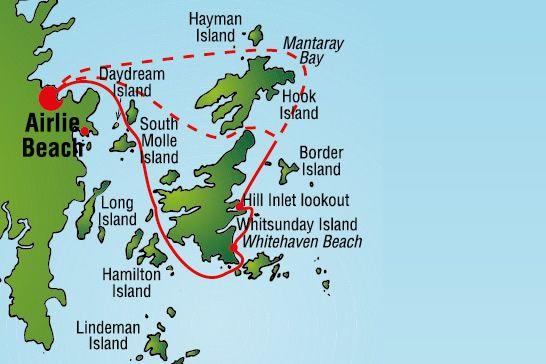 Airlie Beach tour map