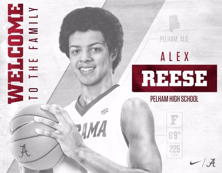 "Welcome Alex Reese @alexxreese18 to the University of Alabama! Alex is a local product out of Pelham HS in Pelham, Ala.  - pic via ""Alabama M Basketball"" on Twitter #Alabama #RollTide #Bama #BuiltByBama #RTR #CrimsonTide #RammerJammer #BuckleUp"