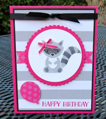Stampin Up! Foxy Friends Raccoon Krystal's Cards #krystals_cards #foxyfriends #stampinup