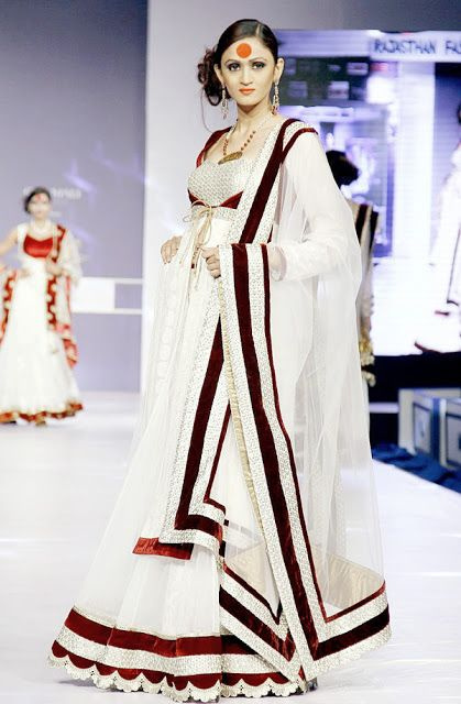 Rajasthan Fashion Week 2013 desin by Sumit Das Gupta.... Find Similar Exclusive Laces and fabrics @ www.lacxo.com