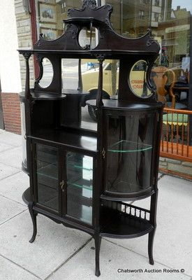Merveilleux Antique Victorian Mahogany Rockford Frame U0026 Fixture Co Parlor What Not  Cabinet | Victorian | Pinterest | Victorian, Victorian Furniture And  Antiques