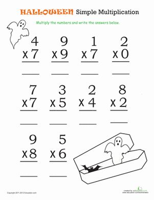 1000+ ideas about Halloween Math Worksheets on Pinterest ...