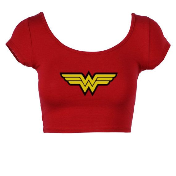 This listing is for the Wonder woman crop Top. We love nerdy items and this just fits the bill. Always be a Wonder Woman These tank top are junior