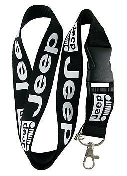 Jeep Lanyard Detachable Keychain Black Badge ID Cell iPhone iPod Strap Holder