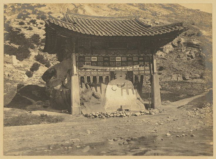 White Buddha Shrine. The statue still stands in what is now Hongeun-dong, Seoul. Source: First encounters : Korea 1880-1910, 1982. P. 68. 1904. Collection: Willard Dickerman Straight and Early U.S.-Korea Diplomatic Relations, Cornell University Library