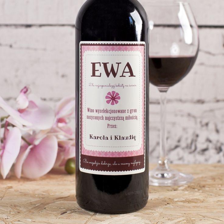 Personalizowane Czerwone Wino STOKROTKA