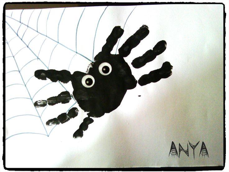 halloween, araignée, empreinte de main, activité enfant