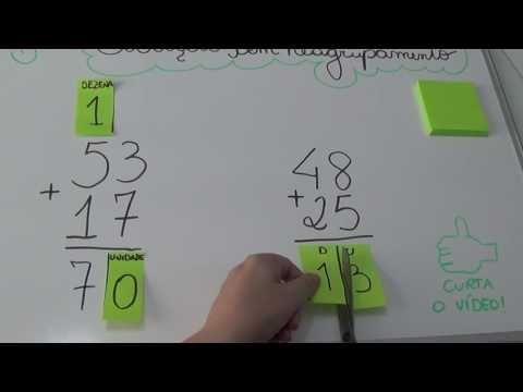 (53) Adição com reagrupamento usando POST-IT - YouTube