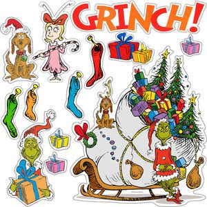 "Dr. Seuss™ ""The Grinch"" Bulletin Board Set $4.99"
