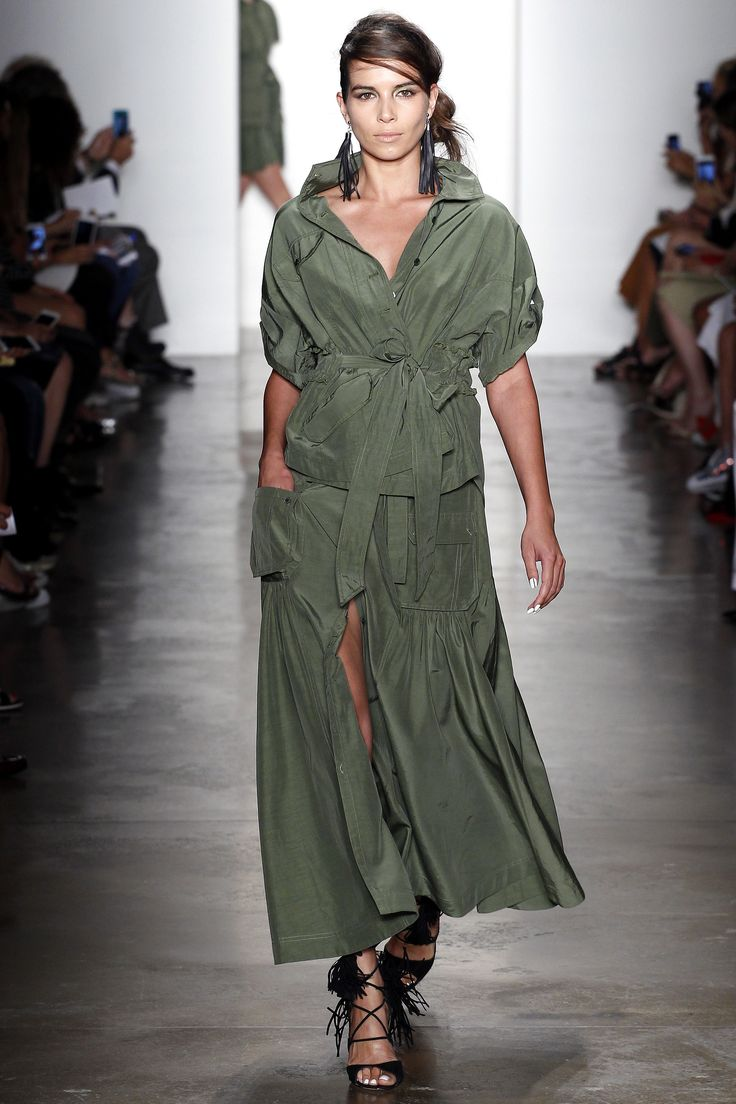 Trend: Gorgeous Greens & Cinched Waist // Marissa Webb Spring 2016 Ready-to-Wear Fashion Show