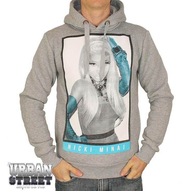 ... MILANO RAP U.S - Sweat Capuche Gris Nicki Minaj Starship Bleu 2013