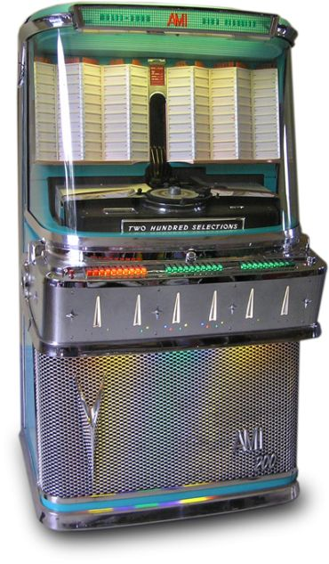 "AMI Model I-200E (1958).  ""Two Hundred Selections."".....juke box"