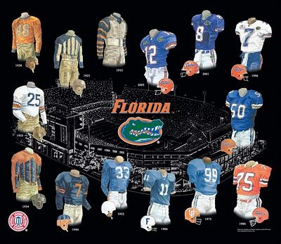 UF Jerseys through the yearsFlorida Football, Florida Gator Football, Uniforms History, University Of Florida, Football Uniforms, History Universityofflorida, Gator National, Team History, Florida Gators Football