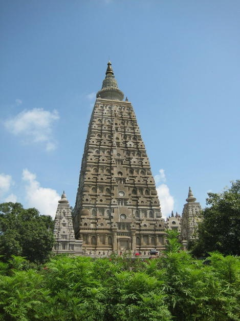 "INDIA. STATE OF BIHAR, EASTERN INDIA. Mahabodhi Temple Complex at Bodh Gaya....""one of the four holy sites related to the life of the Lord Buddha, and particularly to the attainment of Enlightenment."""