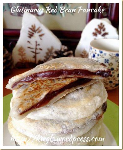 Glutinous Red bean pancake