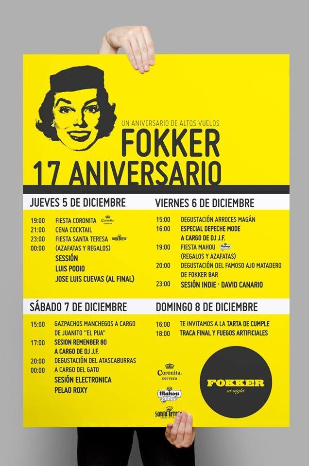 Fokker Bar cartel 17 aniversario
