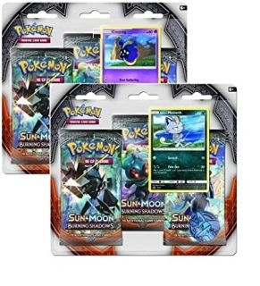 Each Blister Pack Contains: • 3 booster packs per blister • Your choice of either Alolan or Cosmog Promo card • 1 Play Coin
