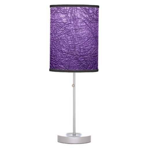 Purple leather texture Table Lamp