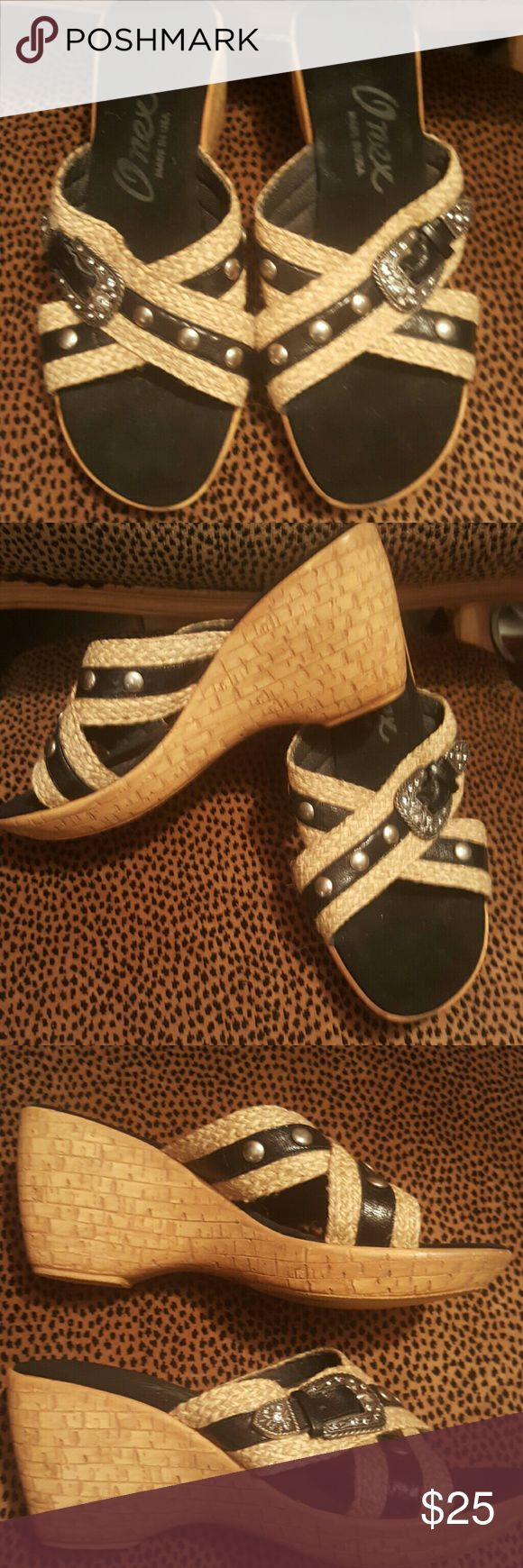 Adorable Italian sandals with a belt bucke A gorgeous Italian sandals Onex in black suede with a cute belt bucke in the front onex Shoes Sandals