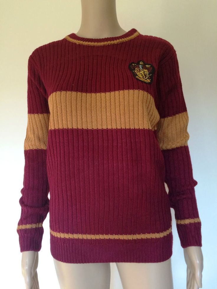 Harry Potter Women's Gryffindor Quidditch Jumper Sweater Primark in Collectables, Fantasy/ Myth/ Magic, Harry Potter | eBay