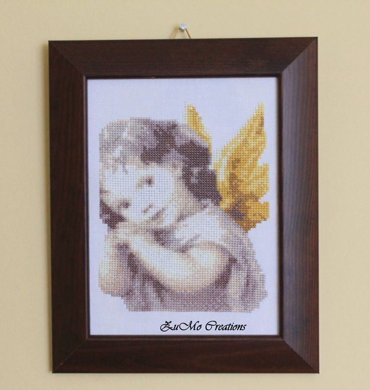Angel poster | cross stitch poster