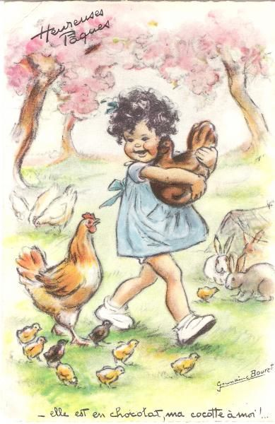 Heureuses Pâques : elle est en chocolat, ma cocotte à moi ! Germaine bourret