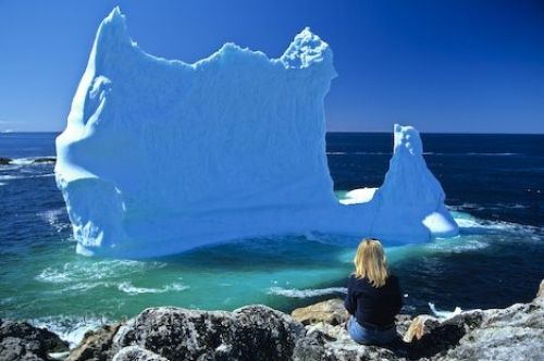 Icebergs seen floating by Newfounland,in the Summer..it's something you really must see,so make plans to visit the most eastern part of the Province,in the Summer,if you're planning a trip to Newfoundland!